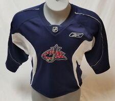 COLUMBUS BLUE JACKETS Reebok Boys L 14-16 Sewn NHL Jersey-Signed-Autographed
