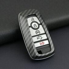 Car Carbon Fiber Hard Smart Key Fob Case Shell Cover Trim For Ford 2017 - 2021