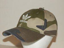 Adidas Originals Relaxed Hat / Cap Trefoil Strapback CK4985 Camo Olive / White