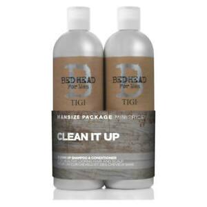 TIGI Bed Head Clean Up Shampoo & Conditioner for Men - Duo Tween Set 750ml