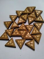 Viking Rune Set, Elder Futhark Runes, Pocket runes, Odin , triangle , Norse wood