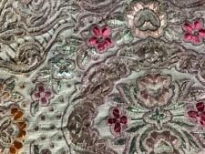 More details for vintage jacquard table runner, bronze, red.  15 x 53 inches