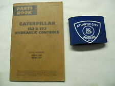 CATERPILLAR 183 & 193 HYDRAULIC CONTROLS PARTS BOOK MANUAL 27HI-UP 28HI-UP