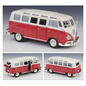 Maisto 1/25 Red Volkswagen 1960s Van Samba Bus Collection Diecast Car Model Gift