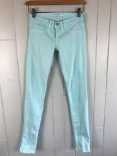 Women's Flying Monkey Mint Green Colored Super Skinny Stretch Jeans Size 24