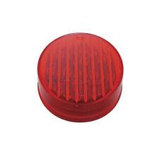 """Red 2.5"""" Round 13 LED Truck Trailer Side Marker Clearance Light Kit / Grommet"""