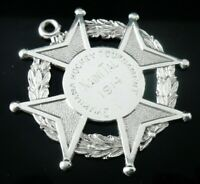 Large Silver Pocket Watch Fob Medal, Gymkhana Hockey Naini Tal, Birmingham 1913