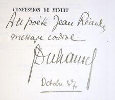 CONFESSION DE MINUIT - GEORGES DUHAMEL - 1/EX N° SUR HOLLANDE - ÉO - ENVOI