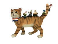 Patrick the Patriotic Miniature Cat and the Happy Gnomes - A Fairy Garden Gnome