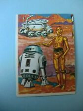 OLD  SPANISH STICKER  CARD  YEARS 80  CINEMA STAR WARS