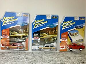 Johnny Lightning Classic Gold mijo Exclusives *LOT OF 3* Diecast Collectibles