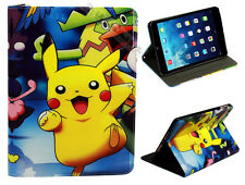 For Apple iPad 2 3 4 Happy Pokemon Pikachu Pokeball Anime Smart Case Cover