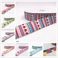Wholesale! 1-10y 1''25mm printed grosgrain ribbon Hair bow sewing Cartoon series