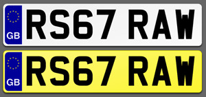 RS67 RAW Cherished Reg Number Plate PORSCHE AUDI RS4 RS6 RS LAMBO FAST LOW NEW