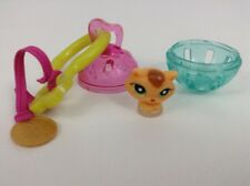 Hasbro Littlest Pet Shop Teeniest Tiniest Toy Miniature Cat Keychain Clip
