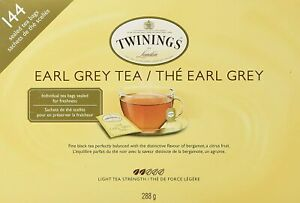 Twinings - Earl Grey Tea [144 Sealed Tea Bags 288g Citrus Bergamot Floral] NEW