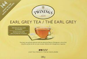Twinings - Earl Grey Tea [144 Sealed Tea Bags 288g Citrus Bergamot Floral] NEW