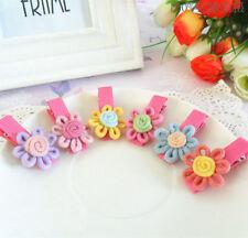 10pcs Kid Girl hair Accessories Baby Hair Clip Barrette Colorful Flower hairpins
