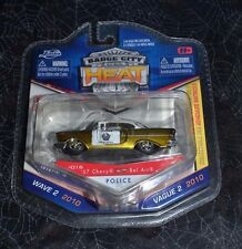 2010 JADA TOYS BADGE CITY HEAT '57 CHEVY BEL AIR POLICE UNIT 38 #016