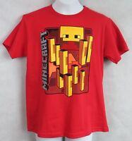 Minecraft Boys T-Shirt Blaze Red Officially Licensed New Mojang Jinx