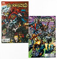 Venomized #1 (2018 Marvel) Regular Cover & Bagley Connecting Variant, Unread! NM