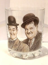LAUREL AND HARDY autograph tumbler glass WHISKEY/FRUIT JUICE whisky SHORT GLASS