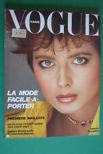 VOGUE PARIS AVRIL 1982 ISABELLA ROSSELLINI CAROLE BOUQUET CYRIELLE CLAIRE AVEDON