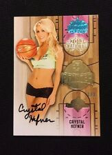 CRYSTAL HARRIS-HEFNER BENCHWARMER AUTO NATIONAL #'d 1/1 - AFTER GIRLS NEXT DOOR