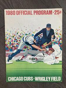 9/6/80 Chicago Cubs vs Cincinnati Reds Program, Cubs 4-3, Buckner 2H, Sutter W