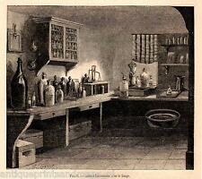 Antique print Photography 1863 cabinet photo fixing Photographic processing foto