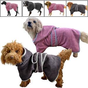 Hunde Bademantel 100% Baumwolle Hundehandtuch Pfotentuch Mantel Haustiermanel