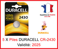 Lot de 1 à 10 Pile CR-2430 / DL-2430 DURACELL bouton Lithium 3V DLC 2025