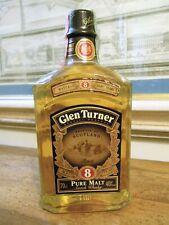 Whisky GLEN TURNER PURE MALT 8 YERAS OLD -  90s  RARE PURE MALT SCOTCH WHISKY 40