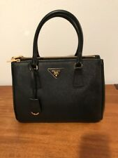 NEW Prada Saffiano Lux Black (Nero) Double Zip Bag