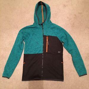 Mens Oneill Gray And Blue Full Zip Jacket Size Medium