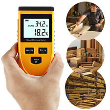 GM630 LCD Digital 0%~50% Wood Moisture Meter Induction Meter 0~50°C Temp Tester