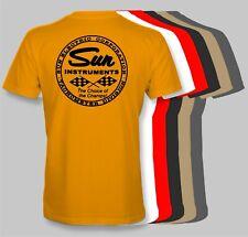 SUN INSTRUMENTS Retro T-Shirt tachometer tach speed shop hot rod electric corp