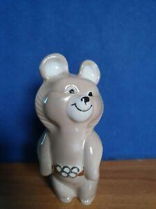 MISHA bear ceramic souvenire OLYMPIC Olympics GAMES Moscow 1980 80 USSR  rare