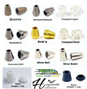 QUALITY PLASTIC CORD STOPPER LOCK END TOGGLES MANY COLOURS VARIOUS QUANTITIES
