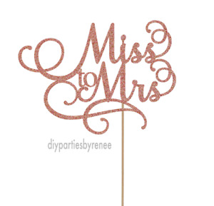 Cake Topper - Love - 20+ Colours - NEXT DAY POST - Bridal Shower - Miss to Mrs