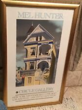 Rare Mel Hunter Circle Gallery Color Litho Victorian Row House Framed 36 x 22