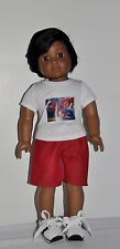DOLL CLOTHES CUSTOM MADE FOR AMERICAN GIRL DOLL LOT- BOY SPIDERMAN SHORTS SET