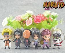 Naruto Akatsuki Itachi SasukevSharingan Figure Keyring Keychain Pendant 6pcs/Set