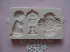 First Communion Set silicone mold fondant cake decorating APPROVED FOR FOOD