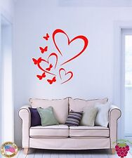Wall Stickers Vinyl Decal Family Love Heart Butterflies For Living Room z1111