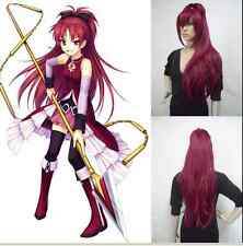 New Puella Magi Madoka Magica Kyoko Sakura Red Anime Cosplay Party Wig  A75