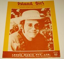ELTON JOHN - ISLAND GIRL - SHEET MUSIC