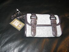 Juicy Couture Wallet Coin purse Buckle Royal Crown Heart heather gray  Classic!!