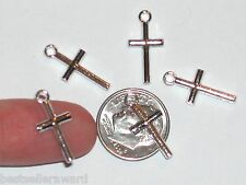 2pc CROSS Pendant metal pendant findings small necklace charm NEW*~adorable
