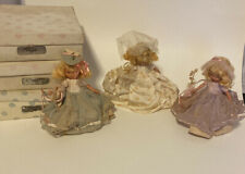 3 Vintage Nancy Ann Storybook Dolls Family Series Bride And 2 Bridesmaids 87,86